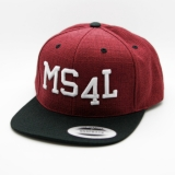 Münster Cap Snapback - MS4L (Melange Red/Black)