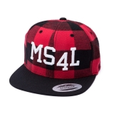 Münster Cap Snapback - MS4L (Flanell Rot)