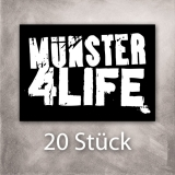 Münster 4 Life Sticker (20er Pack)
